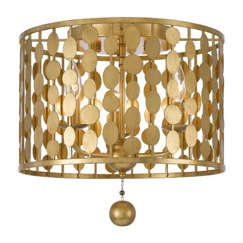 Crystorama Lighting Crystorama Lighting Layla Antique Gold Flushmount Light 544-GA
