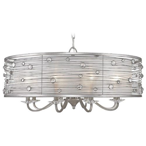 Golden Lighting Golden Lighting Joia Peruvian Silver Chandelier 1993-8 PS