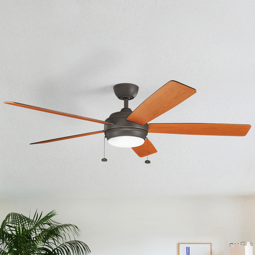 Kichler Lighting Kichler Lighting Starkk Olde Bronze LED Ceiling Fan with Light 330180OZ