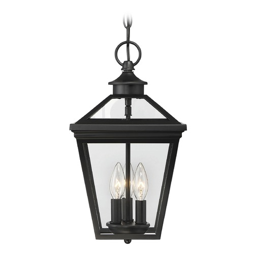 Savoy House Savoy House Lighting Ellijay Black Outdoor Hanging Light 5-146-BK