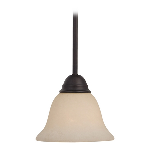 Maxim Lighting Maxim Lighting Manor Oil Rubbed Bronze Mini-Pendant Light with Bell Shade 92200FIOI