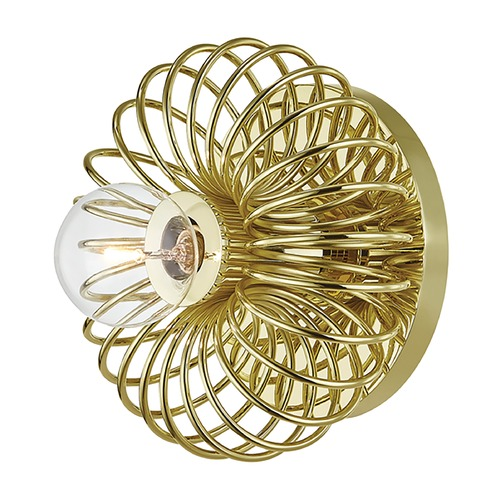 Mitzi by Hudson Valley Mitzi By Hudson Valley Serena Polished Brass Sconce H359301-PB