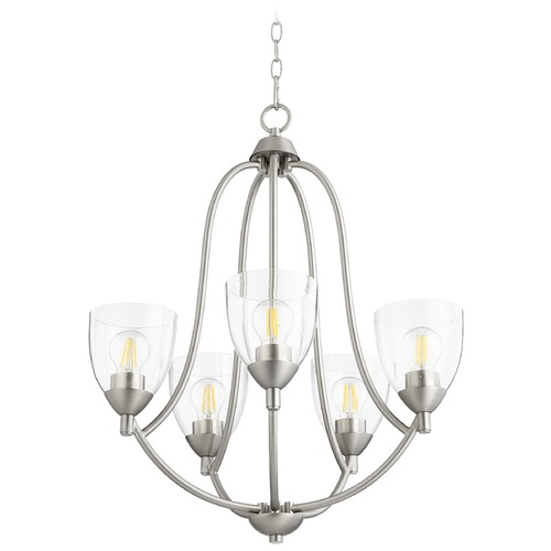 Quorum Lighting Quorum Lighting Barkley Satin Nickel Chandelier 6069-5-265