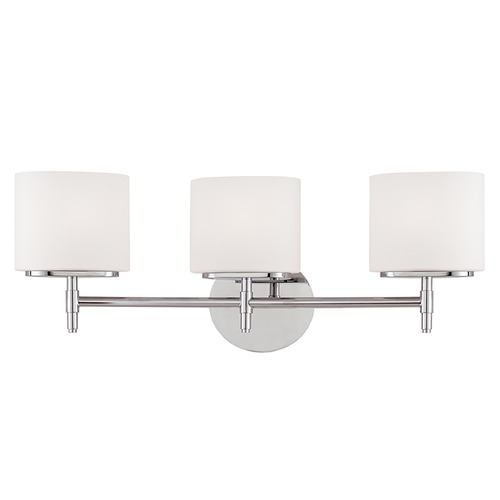 Hudson Valley Lighting Modern Bathroom Light with White Glass in Polished Chrome Finish 8903-PC