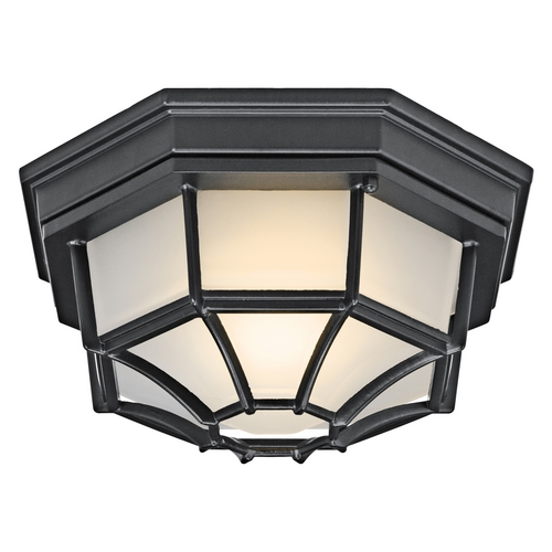 Kichler Lighting Kichler Outdoor Ceiling Light in Black Finish 11028BK