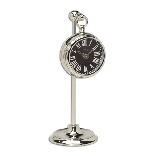 Uttermost Lighting Clock in Nickel Finish 06071
