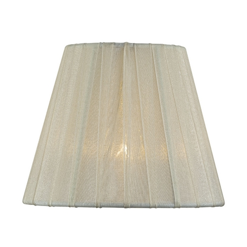 Lite Source Lighting Pleated Cream Empire Lamp Shade with Clip-On Assembly CH5207-5