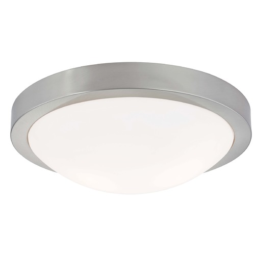 Design Classics Lighting Modern Flush Ceiling Light Satin Nickel 13-Inch Wide 4013-09