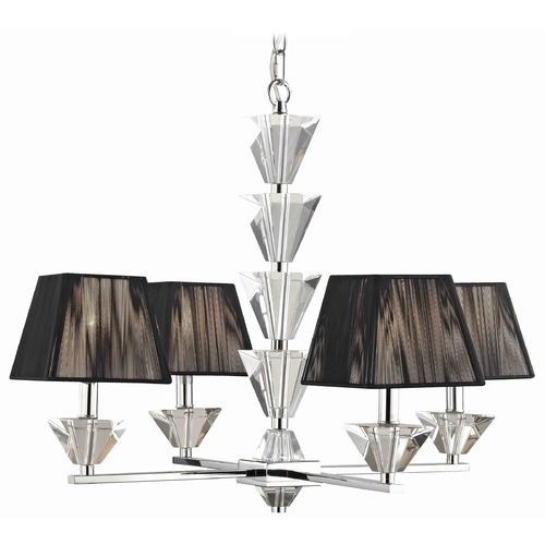 Ashford Classics Lighting Contemporary Crystal Chrome Four Light Chandelier 2272-26