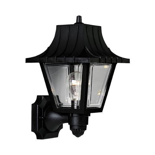 Progress Lighting Progress Outdoor Wall Light with Clear in Black Finish P5814-31