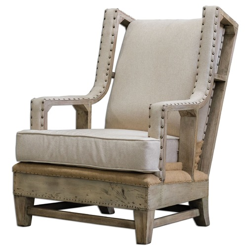 Uttermost Lighting Uttermost Schafer Linen Armchair 23615