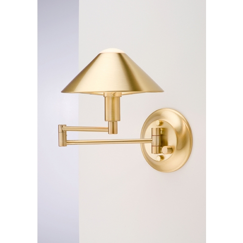 Holtkoetter Lighting Holtkoetter Modern Swing Arm Lamp in Brushed Brass Finish 9416 BB