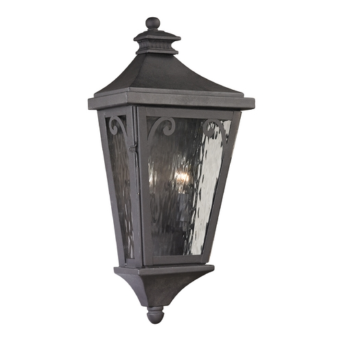 Elk Lighting Outdoor Wall Light with Clear Glass in Charcoal Finish 47080/2