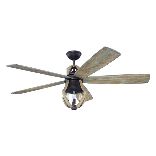 Craftmade Lighting Craftmade Lighting Winton Weathered Pine Ceiling Fan with Light WIN56ABZWP5