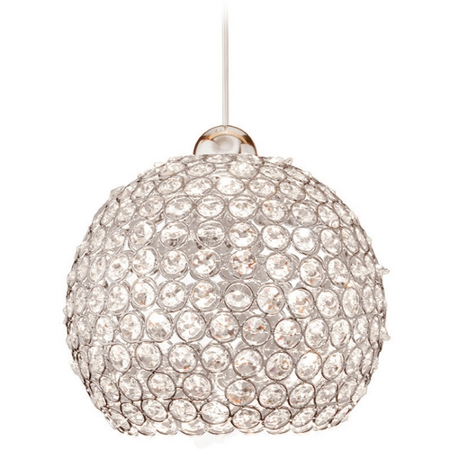 WAC Lighting WAC Lighting Crystal Collection Chrome LED Track Pendant QP-LED335-CL/CH