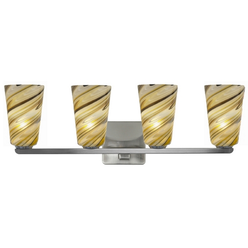 Oggetti Lighting Oggetti Lighting Carnivale Satin Nickel Bathroom Light 22-5622G