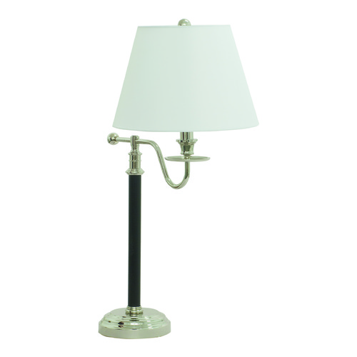 House of Troy Lighting House Of Troy Bennington Black / Polished Nickel Table Lamp with Empire Shade B551-BPN