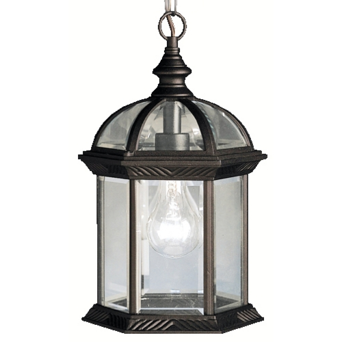Kichler Lighting Kichler Modern Outdoor Hanging Light in Black Finish 9835BK