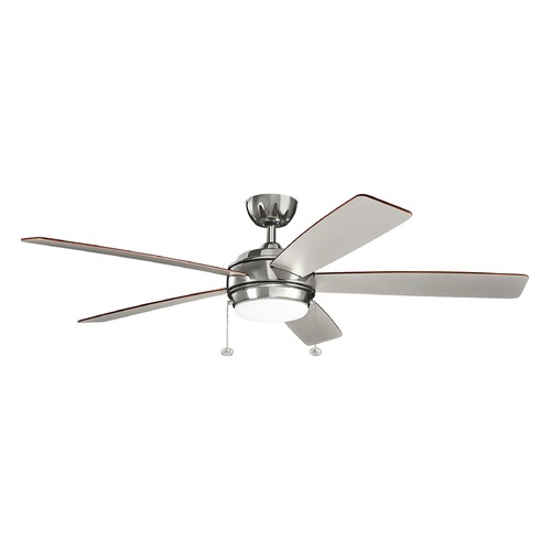 Kichler Lighting Kichler Lighting Starkk Polished Nickel LED Ceiling Fan with Light 330180PN
