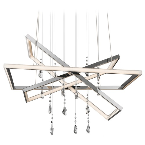 Elan Lighting Elan Lighting Maze Chrome LED Pendant Light 83450