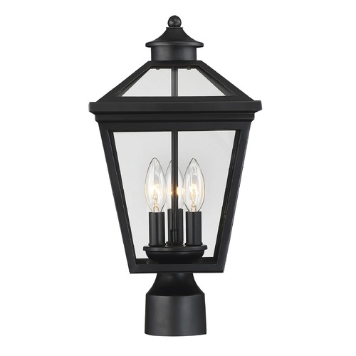 Savoy House Savoy House Lighting Ellijay Black Post Light 5-147-BK