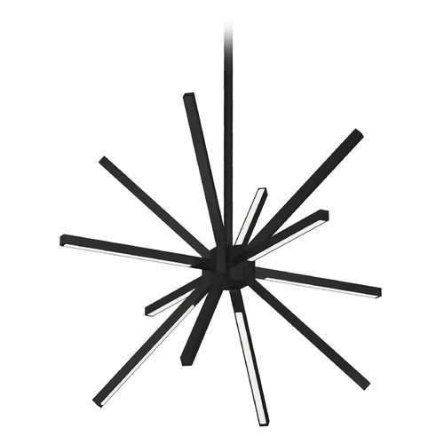 Kuzco Lighting Mid-Century Modern Black LED Pendant 3000K 4300LM CH14220-BK