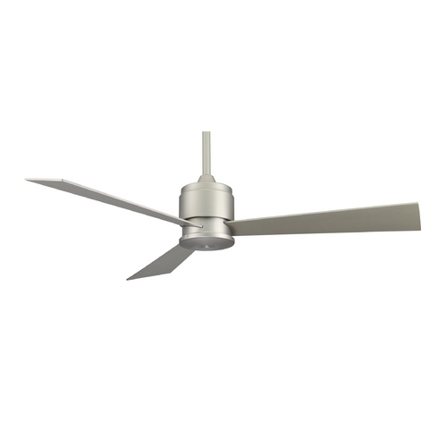 Fanimation Fans Modern Ceiling Fan Without Light in Satin Nickel Finish FP4630SN