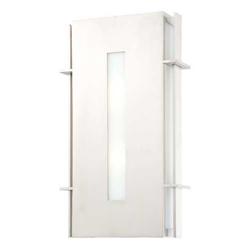 Minka Lavery Outdoor Wall Light with White Glass in Stainless Steel Finish 72121-144-PL