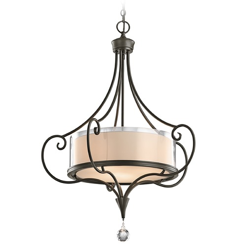 Kichler Lighting Kichler Drum Pendant Light in Shadow Bronze Finish 42864SWZ