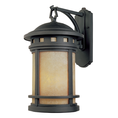 Designers Fountain Lighting Outdoor Wall Light with Amber Glass in Oil Rubbed Bronze Finish ES2371-AM-ORB