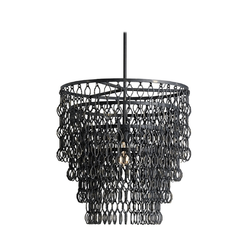 Currey and Company Lighting Modern Pendant Light in French Black Finish 9863