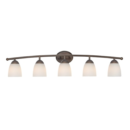 Design Classics Lighting Bathroom Light with White Glass in Bronze Finish 8945-220