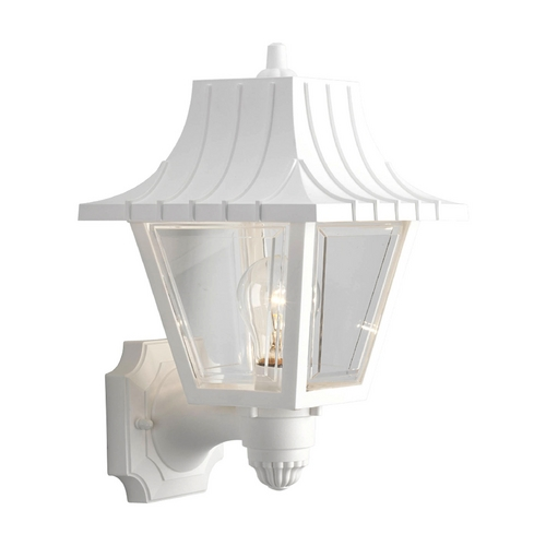 Progress Lighting Progress Outdoor Wall Light with Clear in White Finish P5814-30