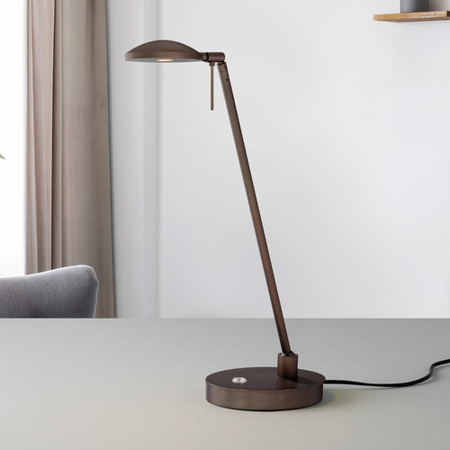 George Kovacs Lighting Modern LED Swing Arm Lamp in Copper Bronze Patina Finish P4336-647