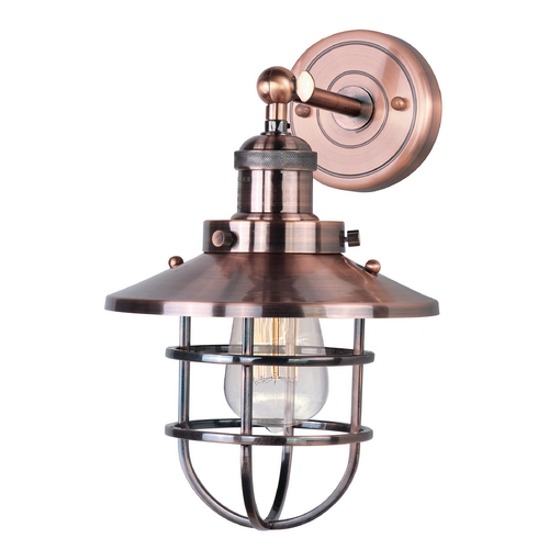 Maxim Lighting Maxim Lighting Mini Hi-Bay Antique Copper Sconce 25070ACP/BUI