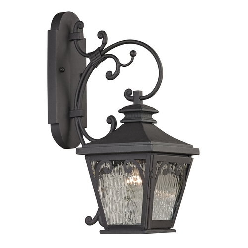 Elk Lighting Outdoor Wall Light with Clear Glass in Charcoal Finish 47081/1