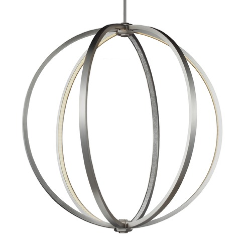Feiss Lighting Feiss Khloe Satin Nickel LED Pendant Light P1393SN