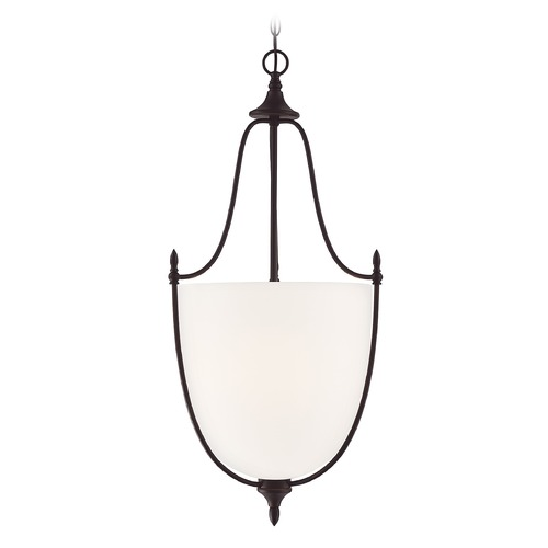 Savoy House Savoy House Lighting Herndon English Bronze Pendant Light with Bowl / Dome Shade 7-1003-3-13