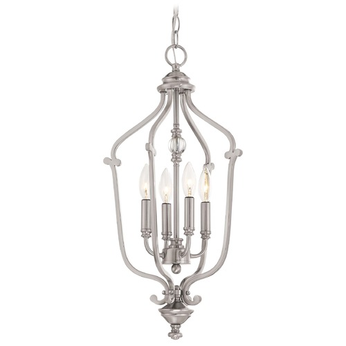 Minka Lavery Minka Savannah Row Brushed Nickel Pendant Light 3331-84