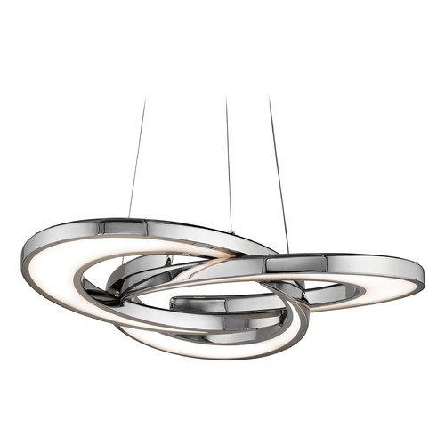 Elan Lighting Elan Lighting Destiny Chrome LED Pendant Light 83619