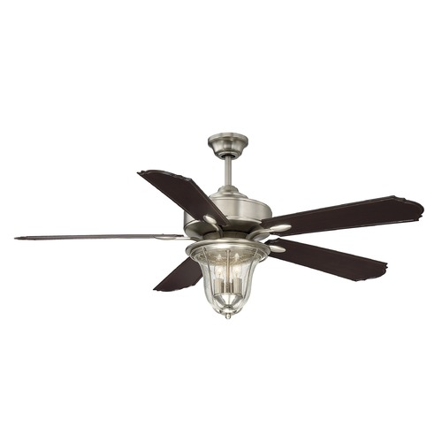 Savoy House Savoy House Lighting Trudy Satin Nickel Ceiling Fan with Light 52-135-5CN-SN