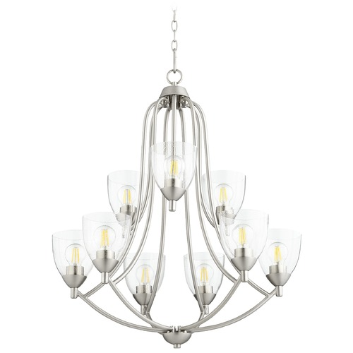 Quorum Lighting Quorum Lighting Barkley Satin Nickel Chandelier 6069-9-265