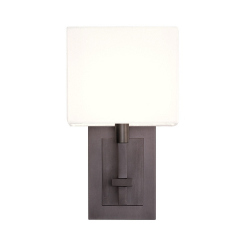 Sonneman Lighting Modern Sconce Wall Light with White Shade in Black Bronze Finish 4435.32