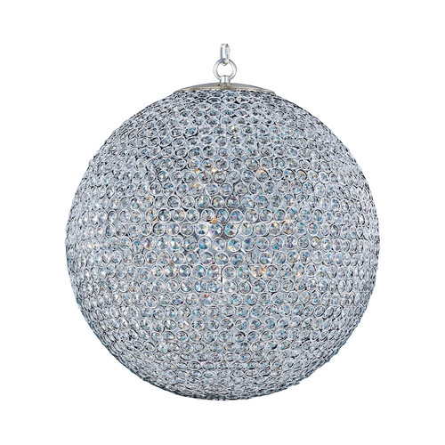 Maxim Lighting Modern Pendant Light in Plated Silver Finish 39887BCPS