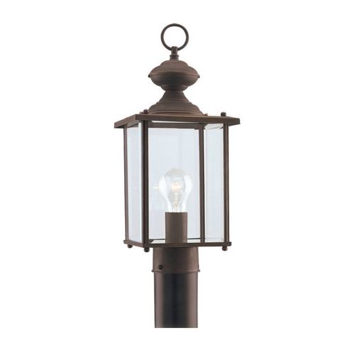Sea Gull Lighting Post Light with Clear Glass in Antique Bronze Finish 8257-71