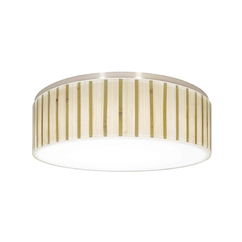 Recesso Lighting by Dolan Designs Decorative Recessed Ceiling Light Trim with Bamboo Drum Shade 10611-09