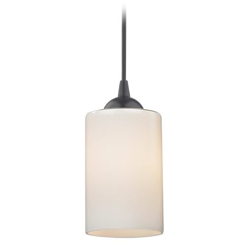 Design Classics Lighting Design Classics Gala Fuse Matte Black LED Mini-Pendant Light with Cylindrical Shade 682-07 GL1024C