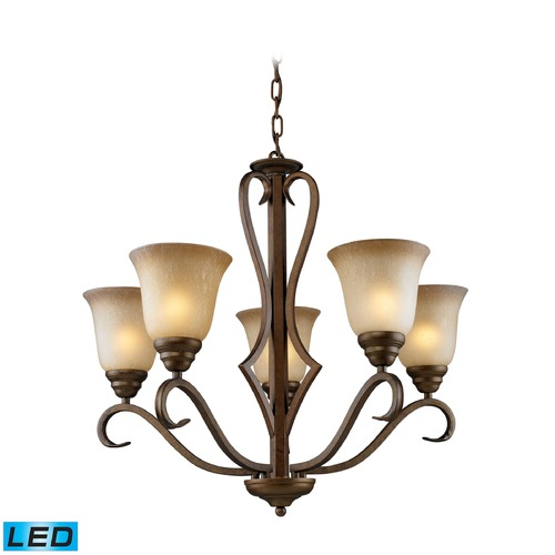 Elk Lighting Elk Lighting Lawrenceville Mocha LED Chandelier 9328/5-LED