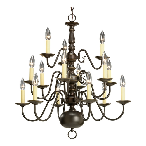 Progress Lighting Progress Chandelier in Antique Bronze Finish P4359-20