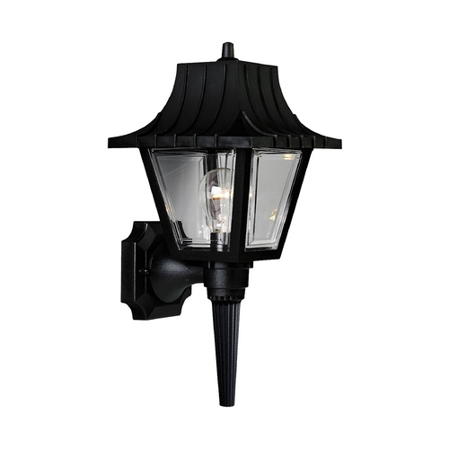Progress Lighting Progress Outdoor Wall Light with Clear in Black Finish P5815-31